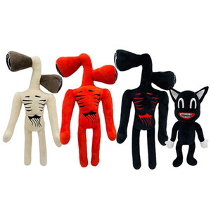Wholesale cat plush toy resale online - 33cm Anime Siren Head Plush Doll Action Figures Toys Scary Black White Red Sirenhead Cat Peanut Soft Cartoon Stuffed Figure Children Gifts