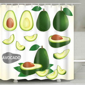 Wholesale printed polyester shower curtains resale online - Avocado Shower Curtain cm Summer Avocado Printed Adult Bathroom Shower Curtain Cute Cartoon Avocados Bathroom HWA3963