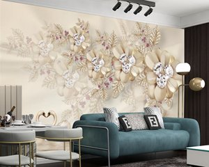 Wholesale 3d mural wallpaper flower for home for sale - Group buy 3d Wallpaper For Kitchen Flowers Swan Lake d Wall Paper Silk d Mural Wallpaper Home Improvement Waterproof Living Room Wallpaper