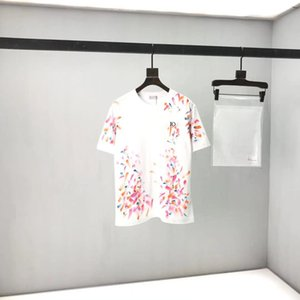 2020ss spring and summer new high grade cotton printing short sleeve round neck panel T-Shirt Size: m-l-xl-xxl-xxxl Color: black white cc3