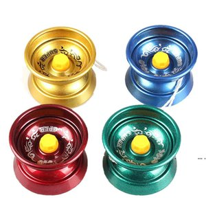 magische balltricks großhandel-Metall Zappel Spinner Metall Yoyo Legierung Aluminium Design High Speed Professionelle Yoyo Kugellager String Trick Magic Jonglierspielzeug FWA4284