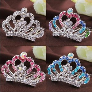 Wholesale comb crowns for sale - Group buy Korean Children s Accessories Headdress Lovely Princess Little Girl Diamond Crown Hairpin Baby Hair Comb IY1O