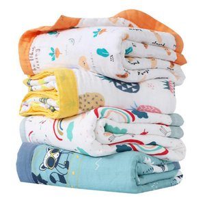 Wholesale nursery quilt for sale - Group buy Muslin Cotton Baby Blanket for Newborn Toddler Layers Soft Hypoallergenic Breathable Quilt Stroller Blanket Nursery Crib Blanket
