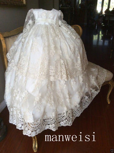 Wholesale girls' dress for christening for sale - Group buy Newborn Baby Girls Gown for Baptism Christening st Birthday Infant Dresses Beaded Tulle Party Prom Toddler Girl Party Dresses Z