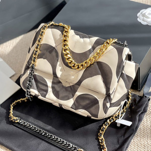 Wholesale messenger s for sale - Group buy 2021 S S New Leather Women Bag Fashion Geometric Printing Shoulder Bag Stitching Chain Handbag Two Color Luxury Designers Bags Messenger Bag