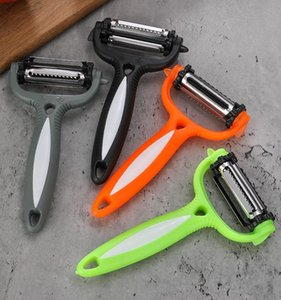 Wholesale kitchen tools resale online - Multifunction Rotary Peeler Degree Carrot Potato Orange Opener Vegetable Fruit Slicer Cutter Kitchen Accessories Tools LLS581