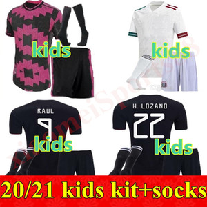 Wholesale children mexico soccer jerseys resale online - 20 Mexico Kids kits Soccer Jerseys CHICHARITO LOZANO CHUCKY Boys Football Shirts Uniform Youth G DOS SANTOS Child camisetas de futbol