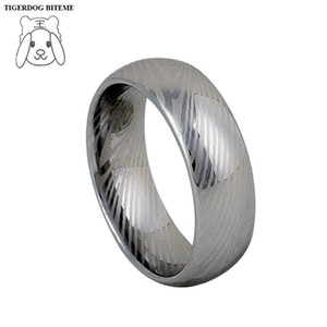 Wholesale tungsten rings men resale online - unique mm tungsten carbide rings for men finger jewelry damascus steel jewelry never fade marriage Alliances