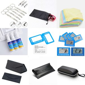 Wholesale drivers testing resale online - Screw driver plastic case glasses bag cleaning liquid hanging rope polarizing test card blue light and fog proof lens cloth