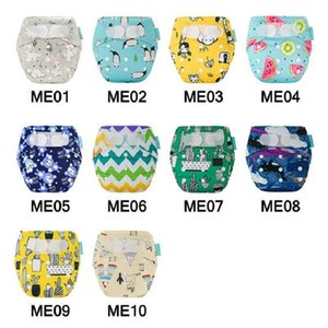 Wholesale baby diapers for sale - Group buy newborn diaper cover Baby washable diapers Cartoon Print Reusable Hook Loop Pocket nappies suits Birth to Potty couche lavable