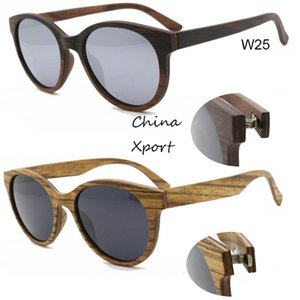 Wholesale white ebony wood for sale - Group buy beautiful ebony zebra wood sunglasses natural unique real handmade wood sunglasses for male female thin comfortable frame