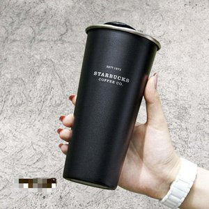 ingrosso bottiglia di acqua starbucks-2020 Starbucks Vacuum Isolato Travel Coffee Tap Tazza da caffè in acciaio inox Tumbler Sweat Thermos Free Black Black Bottle Free Ship S2