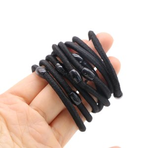 Wholesale ponytails black hair resale online - 20pcs Black Elastic Ponytail Holders Hair Rope Hair Styling Tools Women Rubber Band Tie Gum Hair Accessories for Girls Scrunchy