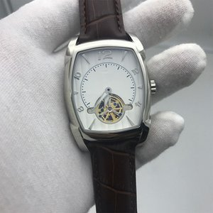 Wholesale stainless steel pa for sale - Group buy 2021 New fashion hot sell mens KA watch white dial brown strap mm size pa best quality L stainless steel automatic skeleton watch