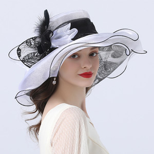 les plumes des femmes aux églises achat en gros de-news_sitemap_home2021 NOUVEAUX FEMMES FEULLES FEUILLES FLEASE FLASHER FLEASE SUMPLE SUMPERY EN organza Kentucky Derby Fascinator élégant cocktail de cocktail église chapeau de mariage IP4F