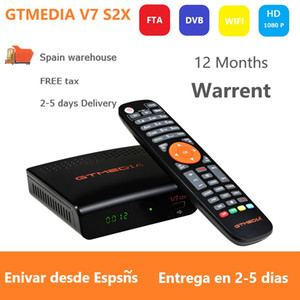 Wholesale hd satellite receiver wifi for sale - Group buy New Arrivals Digital Decoder upgraded DVB S2 P HD receptor with USB Wifi Antenna no app satellite receiver GT media V7 S2X