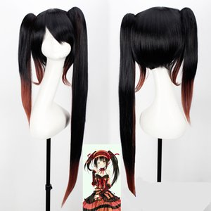 Wholesale date live anime kurumi resale online - Anime Date A Live Nightmare Tokisaki Kurumi Cosplay Wig Synthetic Hair Halloween Party Hair Cap
