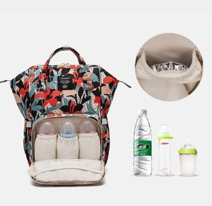 Wholesale designer backpack diaper bags for sale - Group buy Sunflower Diaper Bag Leopard Mommy Backpack Waterproof Nappy Bag Large Capacity Travel Backpack Baby Nursing Bags Sea Shipping WWA212