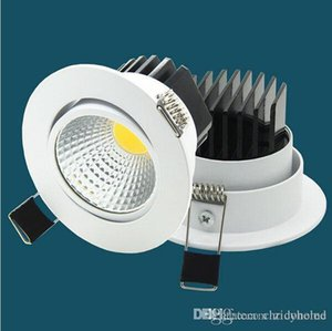 luz fundida al por mayor-LED DURGAMBLE LED Downlights COB Empotrado Luz Empacatio Empacados LED Montaje de superficie delgada Muere Foco de aluminio fundido W W W W