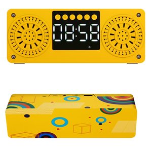 ingrosso mp3 suonato-2020 Hot Popilar Stereo Subwoofer Bluetooth Speaker FM Radio Altoparlanti portatili MP3 Play Super Bass Altoparlante Colonna Computer Giallo