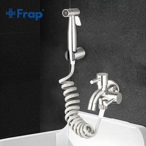 Wholesale wall mounted washing machine resale online - FRAP Bibcock stainless steel Tap Outdoor Garden Taps Wall Mount Washing Machine Mop WC Faucet with bidet faucets