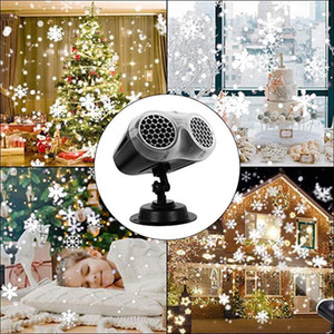 Wholesale 3d light projection resale online - Christmas Control Light Smart Night Light Snow Projection Lamp Table Smart Universe D Lamp Colorful Binocular Projection