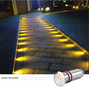 Wholesale recessed outdoor lighting resale online - Mini recessed led outdoor spot w underground led v led platform lights waterproof outdoor water terrace floor lamp step light UG