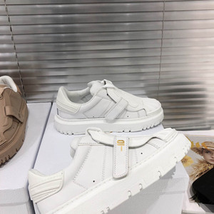 Wholesale shell floor for sale - Group buy 2021 early spring shell toe white shoes women s all match leather platform casual sneakers women s single shoes
