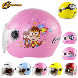 Wholesale children motorcycle resale online - Pink Open Face Kids Motorcycle Helmet Flip Up Scooter Helmet for Children Visor Capacete Electric Bike Cascos Half Face Enfant