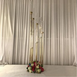 Wholesale wedding candelabra candlestick holders for sale - Group buy Wedding decoration metal candelabra arms candle holder candlestick for wedding centerpieces candle holders without lamp