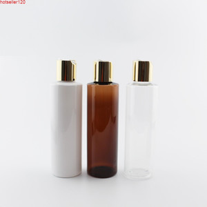 Wholesale use toner for sale - Group buy 200ml X Gold Aluminum Disc Cap Bottles Used For Liquid Soap Showr Gel Toner Plastic Containers Refillable PET Cosmetic Bottlehigh quatiy