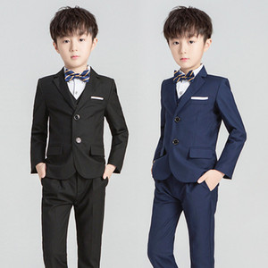 Wholesale kids wedding clothes boys resale online - 2021 Spring New Boys performance clothing Kid Tie lapel Blazers Waistcoat Shirts Pants Children Wedding Party Clothes A5927