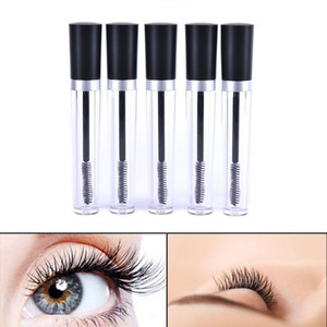 Wholesale mascara clear for sale - Group buy New ml Plastic Clear Empty Mascara Tube Vial Bottle Container With Black Cap For Eyelash Growth Medium Mascara