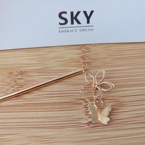 Wholesale chinese hair tassel resale online - Chinese Traditional Crystal Butterfly Hair Stick Jewelry For Women Wedding Hair Accessories Metal Tassel qylSmR