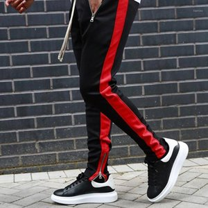 calças de futebol de meninos venda por atacado-Homens Correndo Calças Zipper Athletic Soccer Pant Pant Sports Boy Jogging Gym Calças Elasticity Legging Training Treinamento Pants1