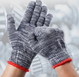 Wholesale workers gloves for sale - Group buy 24 pairs of cotton gloves cotton nylon blended thickened grey black wear resistant gloves for men and women workers