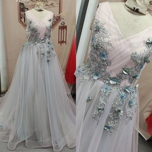 Wholesale pink ombre dresses for sale - Group buy Real Photos Pink Blue Champagne Ombre Wedding Dress with D Flowers Rainbow Wedding Dress A Line Maternity Bridal Gowns