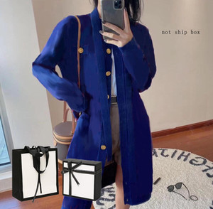 Womens Classic Knit Cardigan Ladys Long Sweaters Women Casual Letter Print Long Clothing Sweater New Fashion Style Spring Autumn