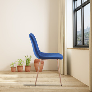 Wholesale dining rooms chairs for sale - Group buy Dining Chair BLUE Modern style New technology Suitable for restaurants cafes taverns offices living rooms reception rooms Simple