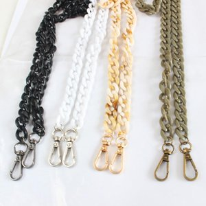 Wholesale chain strap designer bag for sale - Group buy New cm Handbag Acrylic Chains Shoulder Bag Strap DIY Purse Chain Black White Bag Handles Accessories Chain