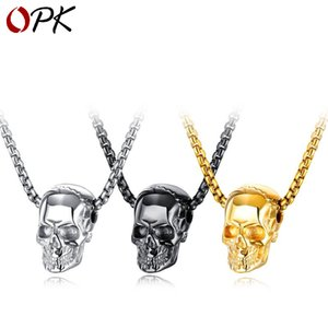 ingrosso cranio nero collana d'oro-Bling Gold Black Stone Eyes Ghost Strass Pendenti Collane Uomo Donna Hip Hop Crystal Skull Head Head Jewelry Gets Cains