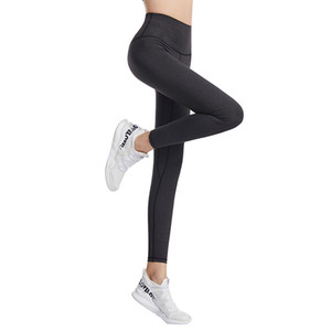 ingrosso pantaloni yoga atletici-LU lulu lululemon lemon Fitness Athletic Solid Yoga Pantaloni Donne Girls Girls High Waist Running Yoga Abiti da donna Sport Full Leggings Ladies Pants Workout q t3dc