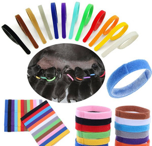 Puppy ID Collar Identification ID Collars Band for Whelp Puppy Kitten Dog Pet Cat Velvet Practical 12 Colors