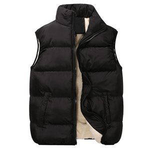 Wholesale mens microfiber jacket for sale - Group buy 2020 autumn and winter new products mens sleeveless plus velvet vest thickened plus velvet couple vest jacket
