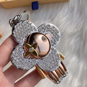 silver letter metal men women keychains fashion style M00033 Accessories canvas leather gold key chain with box