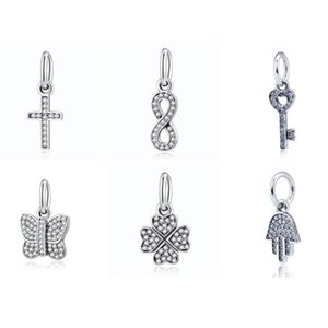 ingrosso simboli di protezione-Crystal Symbol of Protection Faith Cross Infinity Infinity Infinity Charms Authentic S925 Fit Braccialetto Braccialetto