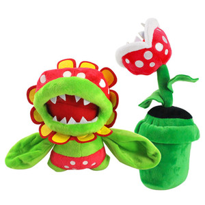 20cm Piranha Plant And18cm Petey Piranha Flower Soft Doll Plush Toy For Baby Christmas Halloween Best Gifts