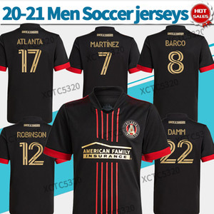 costume preto futebol jérsei venda por atacado-MLS Atlanta United FC Soccer Jerseys Black Martinez Atlanta Blvck Kit Soccer Shirts Personalizado Futebol Uniformes