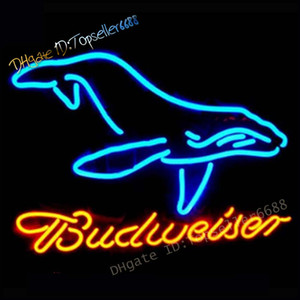 Wholesale dolphin lights for sale - Group buy budweiser Neon Signs for Wall Decor Handmade Sign Home Dolphin Palm Tree Beer Bar Pub Recreation Room Lights Windows Glass Party x14