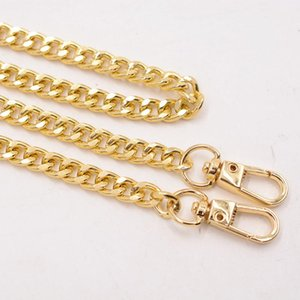 Wholesale chain strap designer bag resale online - Metal gold chain strap for bag cm metal alunimium handbag chain accessories for DIY replacement bag parts accessories